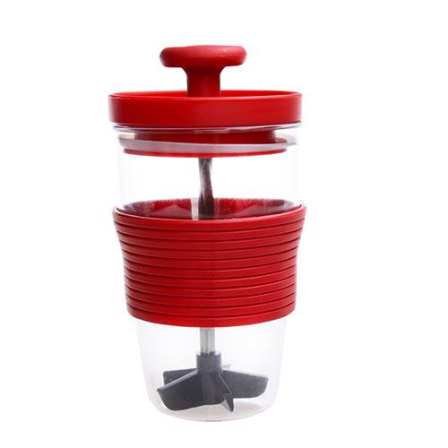 水果搅拌杯 手动榨汁机--红色(8622)