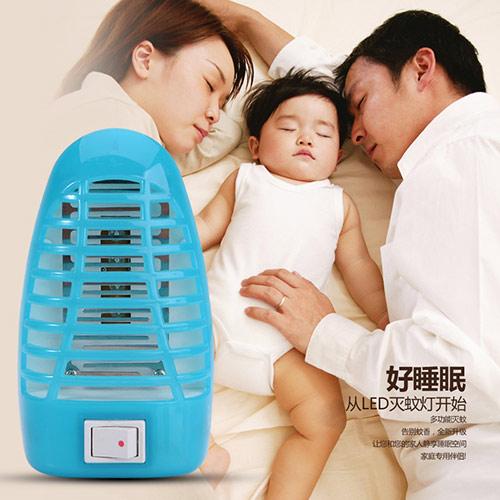 超静音LED吸入式物理静电灭蚊灯--蓝色(555)