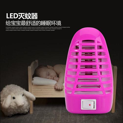 超静音LED吸入式物理静电灭蚊灯--玫红色(555)