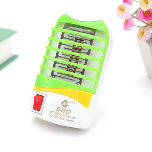 静音LED插座式静电迷你灭蚊灯--绿色(108)