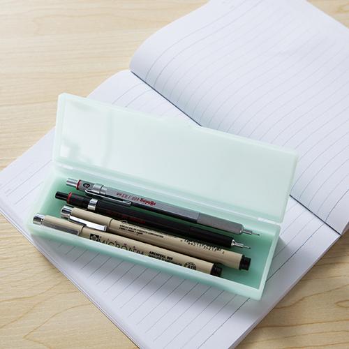 玖悦长方形防水化妆品收纳盒 笔盒--小号绿色