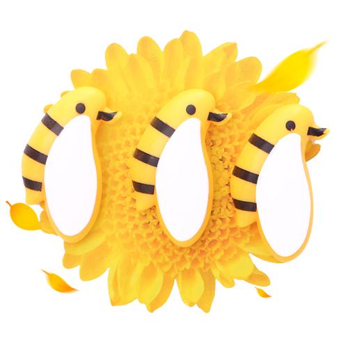 小蜜蜂磁性冰箱贴/留言贴/磁性装饰贴(三支装)