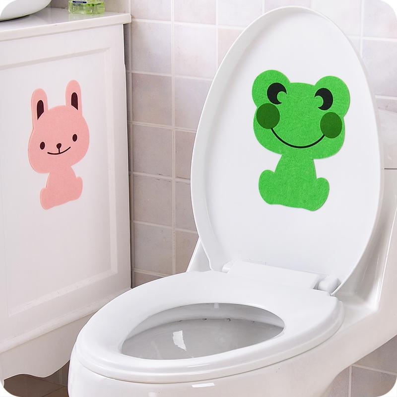 卡通除臭抗菌马桶贴 装饰墙贴--绿色青蛙
