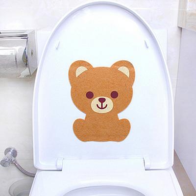 卡通除臭抗菌马桶贴 装饰墙贴--棕色小熊