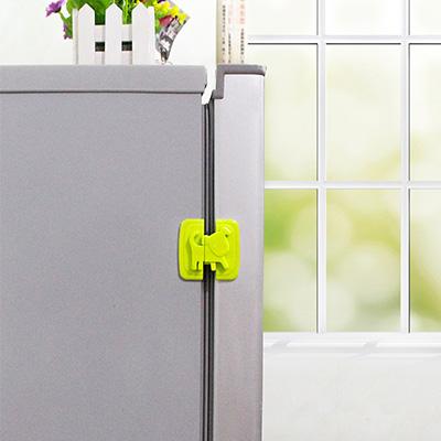 卡通小狗儿童安全锁 橱柜冰箱安全锁扣--绿色