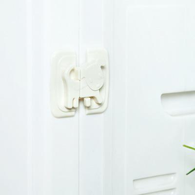 卡通小狗儿童安全锁 橱柜冰箱安全锁扣--白色