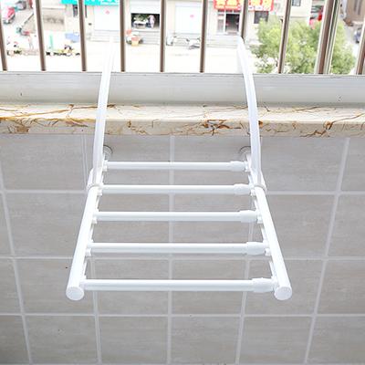 可伸缩阳台室内户外晾衣架 晾鞋架 多用毛巾架(40-70CM)-振兴玻璃