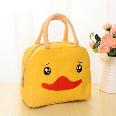 動漫卡通飯盒袋出游保溫包 便當包--小黃鴨