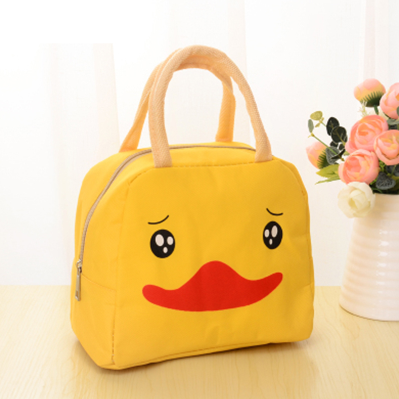 动漫卡通饭盒袋出游保温包 便当包--小黄鸭