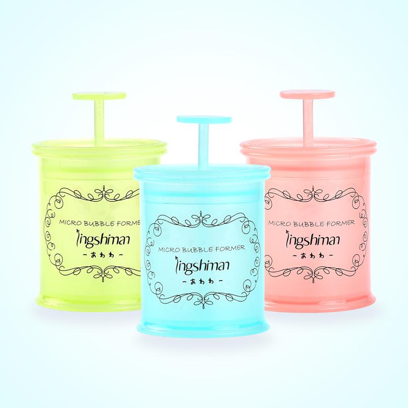 便捷洗面奶打泡器 手动沐浴露打泡瓶--粉色