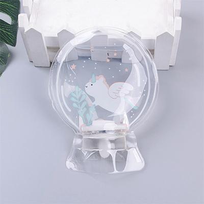 圆形透明款PVC儿童热水袋--飞天马