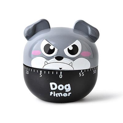 卡通小狗机械式厨房烹饪午休定时器--灰色(RB509)
