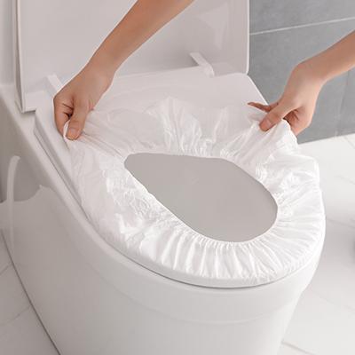 旅行出差用松紧带设计无纺布一次性马桶垫(单只装)