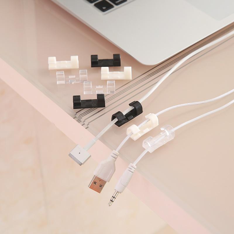 自粘式迷你电线固定器 理线夹--白色(大号16个装)