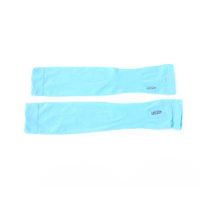 夏季冰爽防晒护臂有指冰丝袖套 手臂套--天蓝色