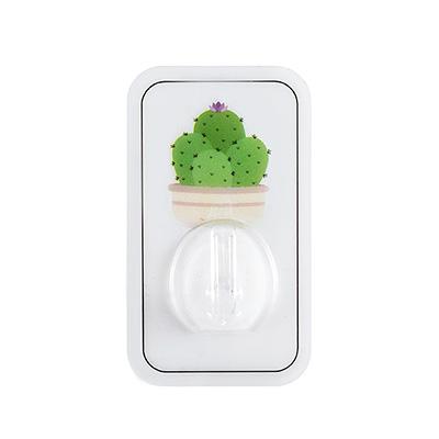 植物印花粘貼式無痕掛鉤--仙人掌(單個裝)