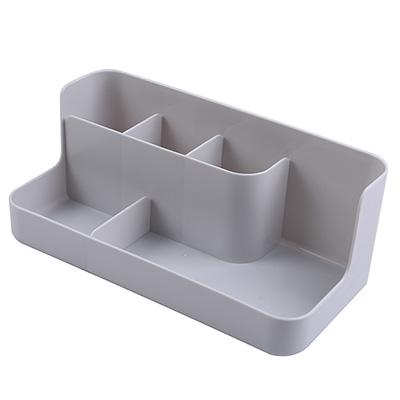简约大小五分格化妆品收纳盒 桌面收纳盒--灰色