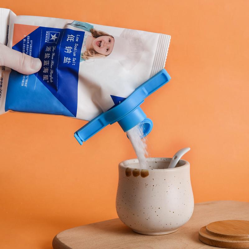 梵特防潮保鲜食品封口夹 大号出料嘴密封夹--蓝色