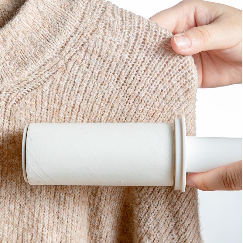 可伸縮便攜帶防塵蓋滾筒斜撕式粘毛器 除塵器 替換裝(單個)