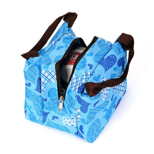 清爽爱心手提野炊包 大容量旅行包 --蓝色