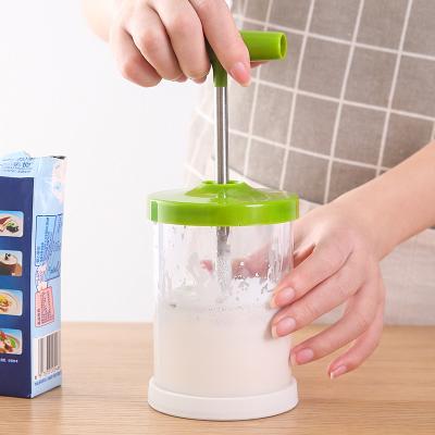 家庭烘焙手动打奶器奶泡机 牛奶发泡器--绿色 烘焙行业一般选哪些礼品