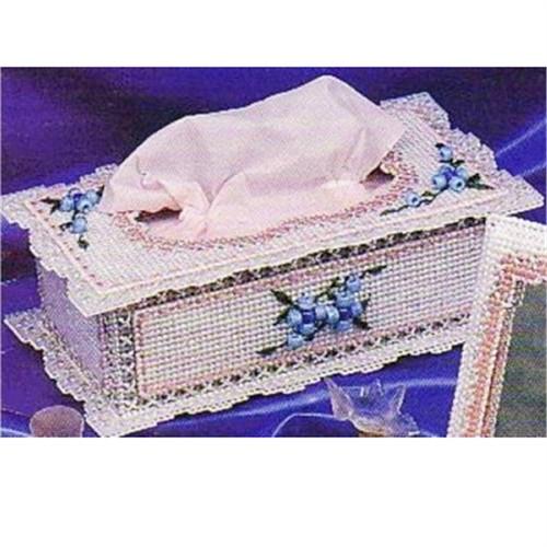 妙恋立体十字绣花边长形纸巾盒(b-44)
