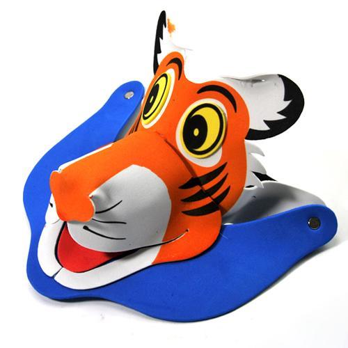 表演道具-卡通动物立体帽/表演头饰(老虎)