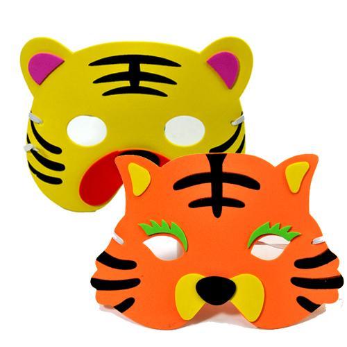 商品名称:卡通面具-儿童表演道具/表演头饰(老虎)