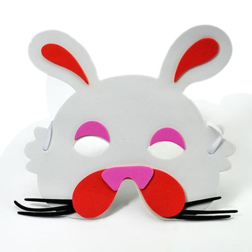 制作小白兔头饰的步骤