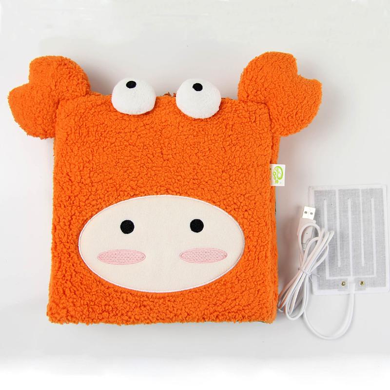 伊品堂USB保暖鼠标垫/暖手鼠标垫-螃蟹(橙色 )