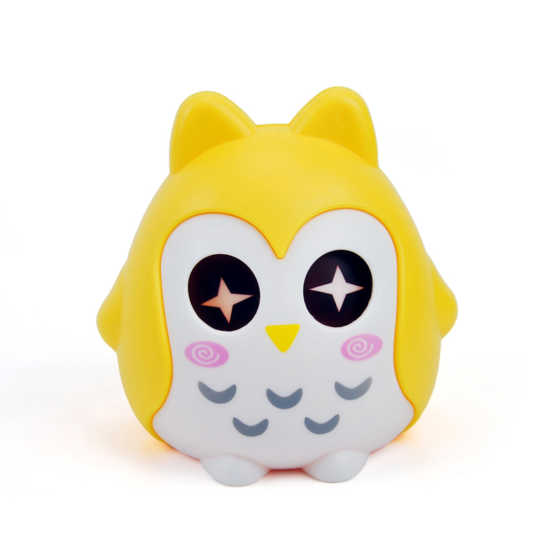 猫头鹰存钱罐/糖果罐/储蓄罐--黄色