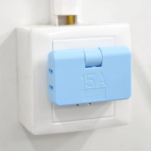 可旋转一拖三电源转换插头/旅行插头--大号(蓝色)