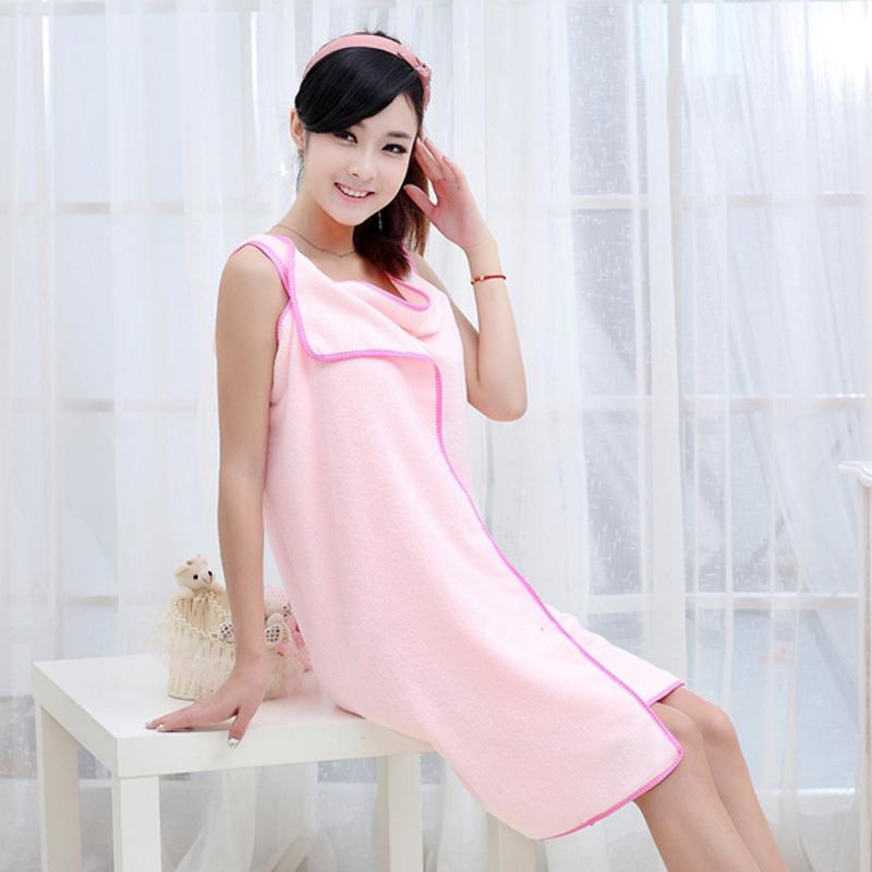 优质超强吸水百变魔术浴巾/浴裙--成人款(粉红色)