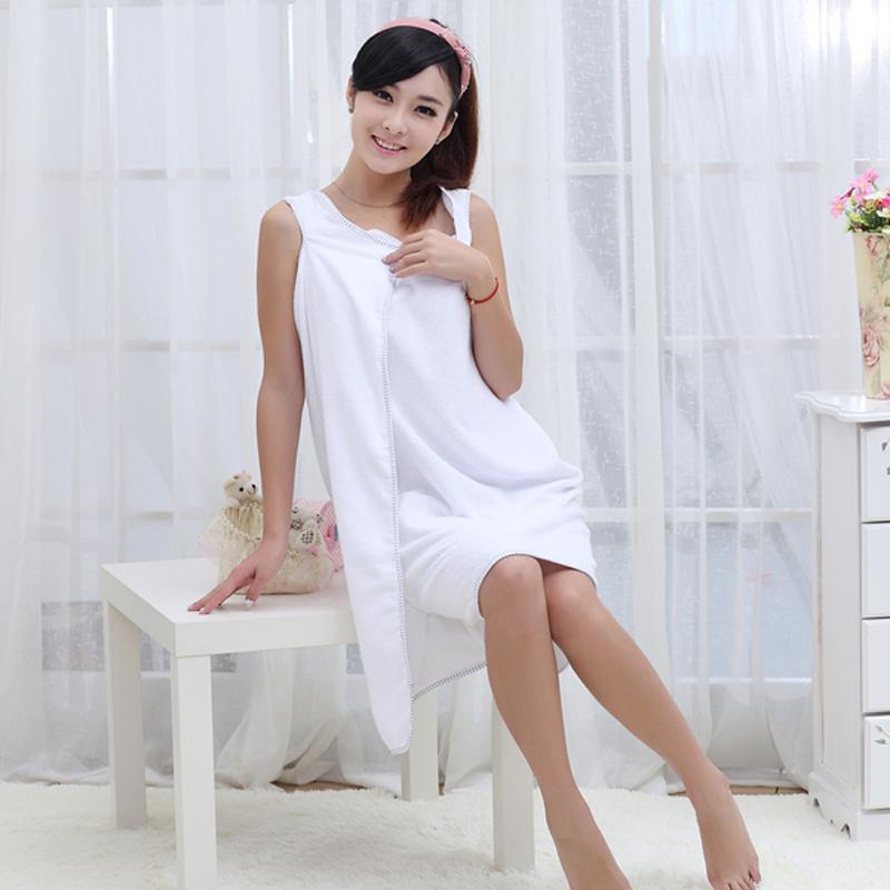 优质超强吸水百变魔术浴巾/浴裙--成人款(白色)